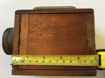 Vintage Wooden Torch Lantern very early Ever Ready (please read description)