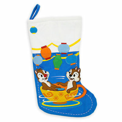 Disney Parks Christmas Stocking - Mad Tea Party Chip and Dale - NEW