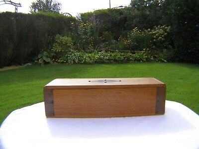 Arts&crafts Light Oak And Copper/brass Box See Photos