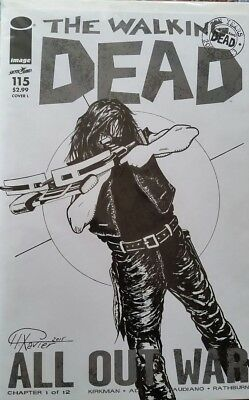 The Walking Dead comic  issue #115 with  sketched cover (NM)