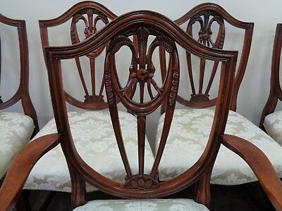 10 Quality Antique Style Mahogany Dining Chairs Georgian Style