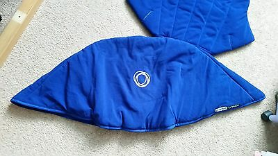 Brand New bugaboo cameleon 1, 2, 3 and frog  hood and seat cover blue fleece)