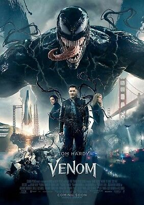 "Venom Movie Poster Marvel Tom Hardy Art Film Print 13X20"" 24x36"" 27x40"" 32x48"""