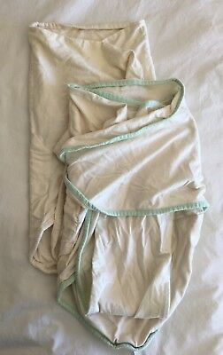 Lot of 2 Miracle Blankets Baby Swaddle - Unisex