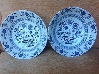 2 x Classic J & G Meakin Blue Nordic Serving Salad Bowls Dishes 21cms