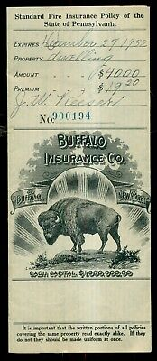 1937 Buffalo Insurance Company of Buffalo,NY Policy