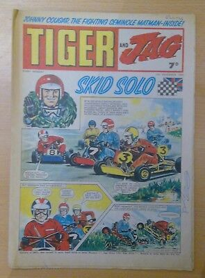 TIGER and JAG COMIC 15th November 1969 - Skid Solo- vg+ condition