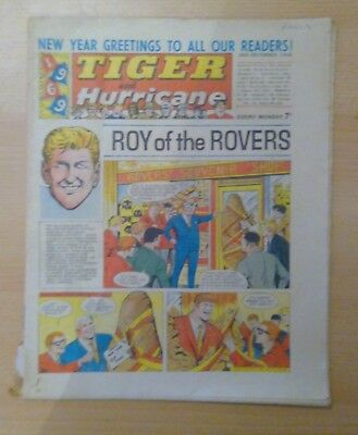 TIGER and Hurricane Comic 28th December 1968 - Roy of the Rovers - vg+ condition