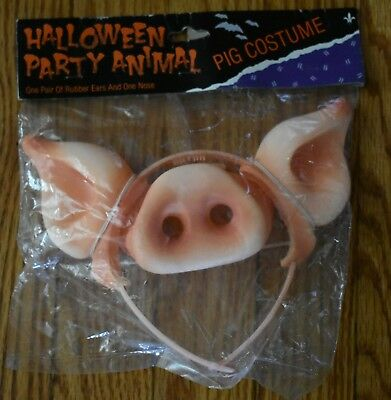 Halloween Party Animal PIG Nose and Ears Headband  Gibson Greeting