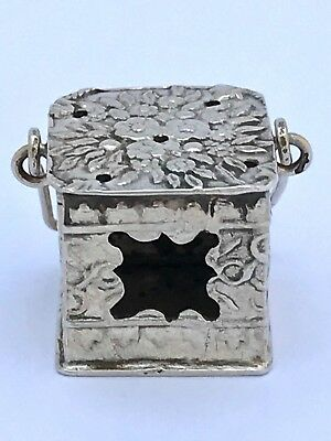 Antique Dutch Silver Miniature Brazier Doll's House Toy HH makers mark
