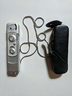 Vintage Minox B Complan Subminiature 'Spy Camera' With Original Case And Chain
