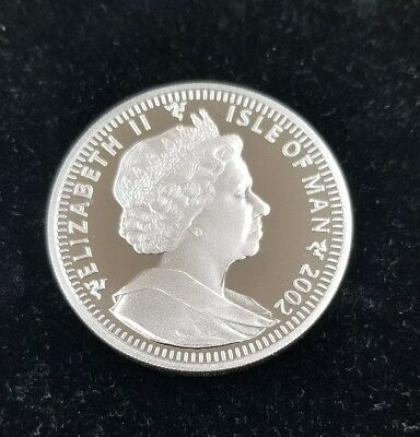 2002 UNCIRCULATED Canadian Isle of Man Silver 1 oz Coin Crown Elizabeth II
