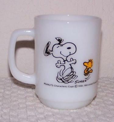 Snoopy & Woodstock Fire King Mug - At Times Life Is Pure Joy!