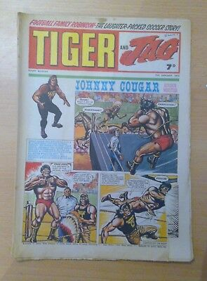 TIGER and JAG Comic 10th January 1970 - Johnny Cougar - vg+ condition
