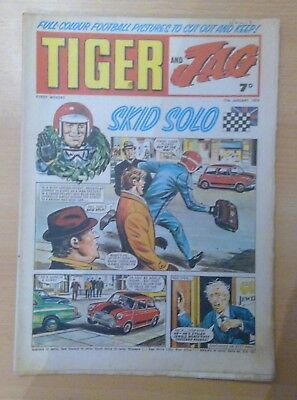 TIGER and JAG Comic 17th January 1970 - Skid Solo - vg+ condition