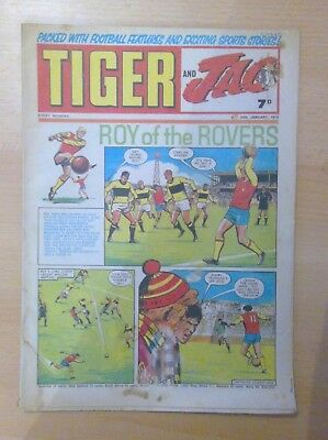 TIGER and JAG Comic 24th January 1970 - Roy of the Rovers - vg/f condition