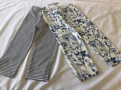 Bnwt Girls Pretty Next Two Pair Of Leggings Age 12 - 18 Months