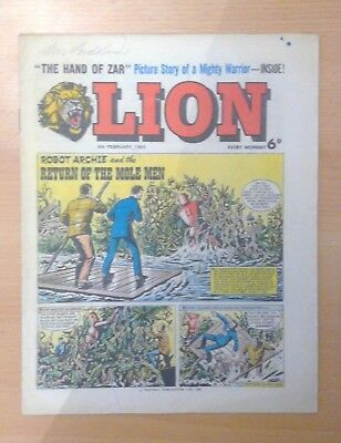 LION comic - 6th February 1965 - vg+ condition