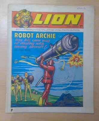 LION comic - 15th February 1969 - Robot Archie - vg condition