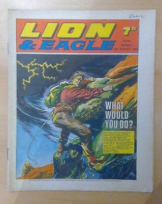 LION & EAGLE comic - 16th August 1969 -  vg condition