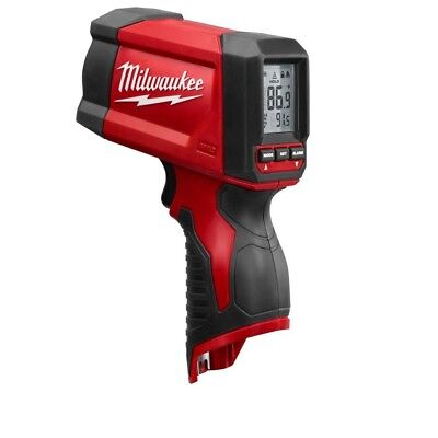 Milwaukee Laser Temperature Gun Lithium Ion Infrared 12:1 Thermometer Tool Only