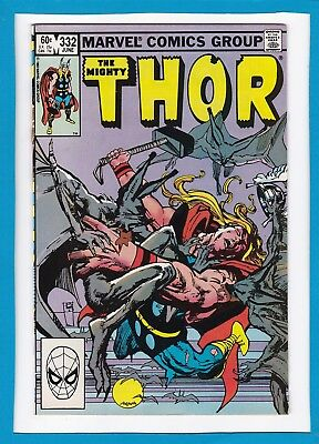 Mighty Thor #332_June 1983_Near Mint Minus_Avengers_Dracula_Sif_Jane Foster!