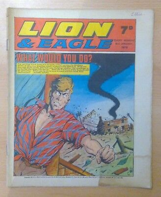 LION & EAGLE comic - 3rd January 1970 -  vg condition