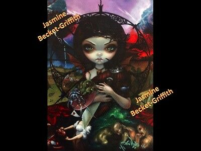 """Unseelie Court """"Wrath"""" ACEO Jasmine Becket-Griffith big eyes art One-of-a-kind"""