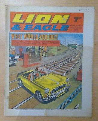 LION & EAGLE comic - 10th January 1970 -  vg condition