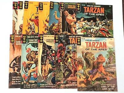 12 Tarzan And Korak Conic Books Gold Key Son of the Apes