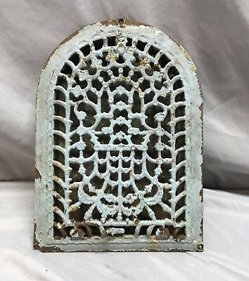 Antique Cast Iron Arch Dome Top Floor Register Heat Grate 8x12 Old Vtg 49-18C