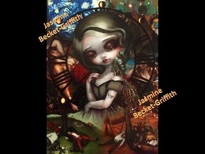 """Unseelie Court """"Sloth"""" ACEO Jasmine Becket-Griffith big eyes art One-of-a-kind"""