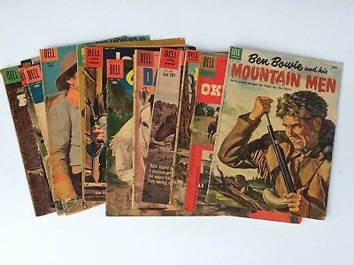 Lot of 20 Dell Comic Books Cowboy Western Roy Rodgers Dale Evans