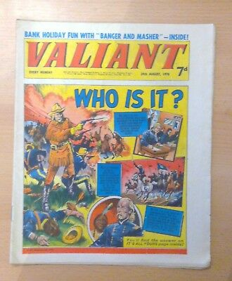 Valiant comic - 29th August 1970 -  vg condition