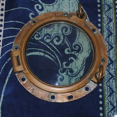Antique working porthole and mounting board