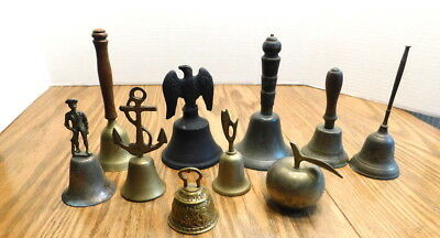 VINTAGE COLLECTIBLE LOT  OF 10  BELLs