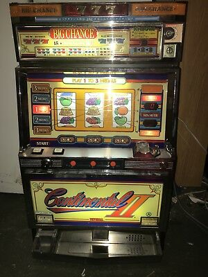 Vintage Casino Japanese Continental 2 II Slot Machine w Key Works Great! (video)