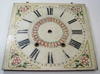 Antique Wooden Works Weight Driven Clock Dial Parts Repair