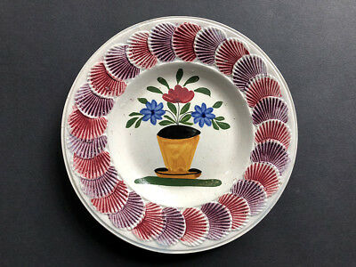 The Best! Child's Creamware Plate With Scallop-Shell Border, 1820