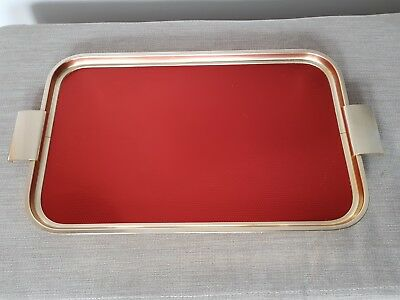 Vintage Art Deco Cocktail Tray 1920s 30s Woodmet Metal Serving Tray