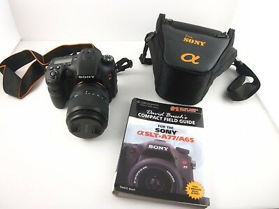 15655) Sony Alpha a77 Digital SLR Camera Bundle w/ 18-135mm Lens +MORE