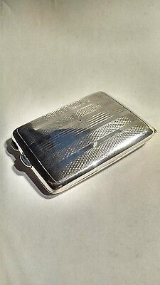 Vintage Silver Cigarette Case In Very Nice Condition Clear Hallmarks Jt&s Sign