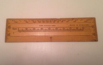 Vintage Ophthalmic Wooden Ruler Antique Victorian Collectible Ophthalmology