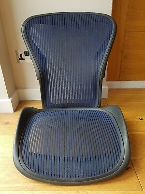 Blue Herman Miller Aeron Chair Mesh Size B  - Back and Seat Pan Frame Set