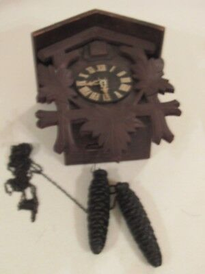 Vintage or Antique Cuckoo Clock - Black Forest Style