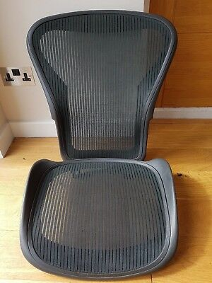 Green Herman Miller Aeron Chair Mesh Size B  - Back and Seat Pan Frame Set