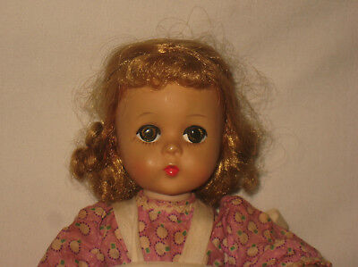 "1950's Madame Alexander 11.5"" Hard Plastic Lissy Face Doll  MG12"