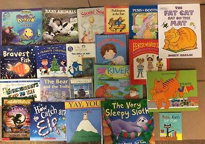 Lot of 20 K-5 Scholastic Learn to Read Picture Mix Set Kid Children Book #F01 NR