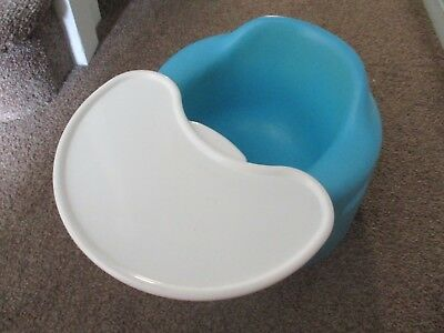 bumbo baby seat with tray - blue