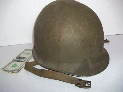 Early 1941! WW2 '55B' FIXED BALE McCord 1st pat. US M-1 HELMET w/M1917A1 BUCKLE